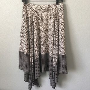 Banana Republic asymmetrical hemline skirt sz 2